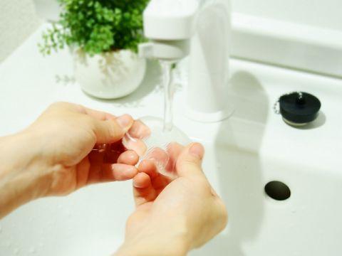 シリコンパフ 洗う